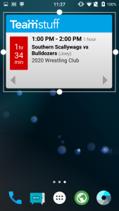 Making the Widget bigger