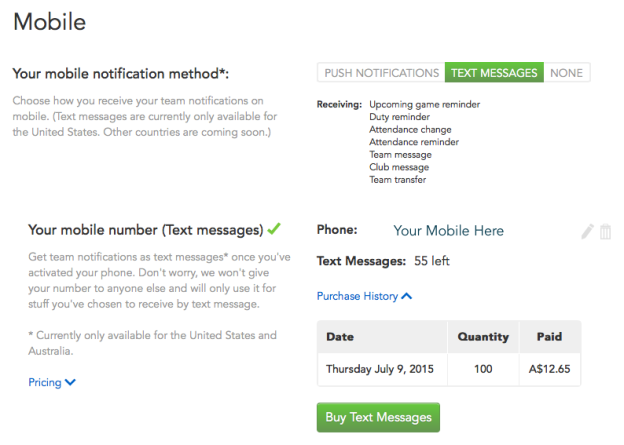 This is where you update your phone number, and choose Text as your preferred notification style
