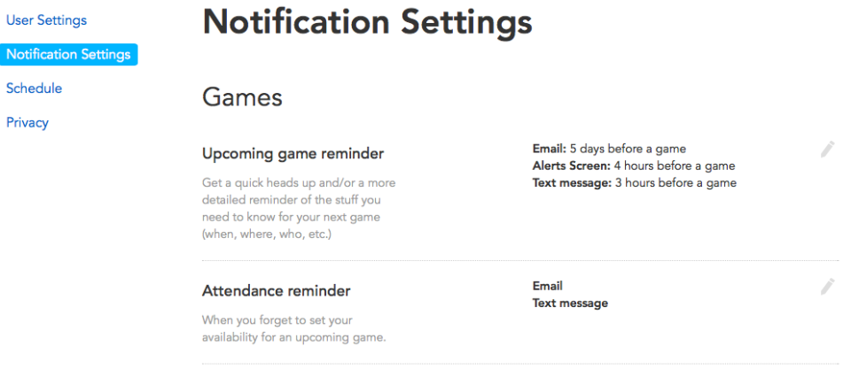Allowing you lots of choice about when and how you might be notified.